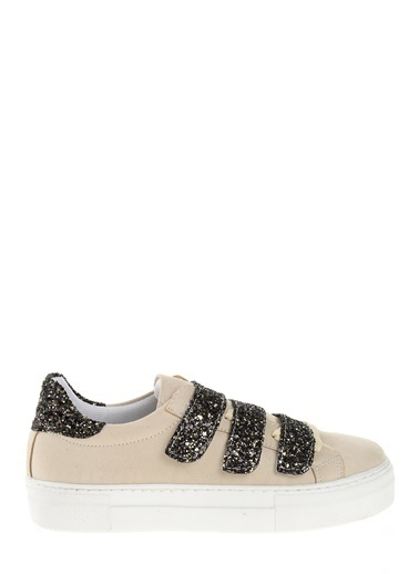 Derigo Bant Detaylı Ayakkabı Bej